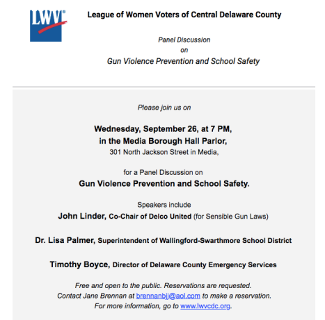 LWV School Safety Event